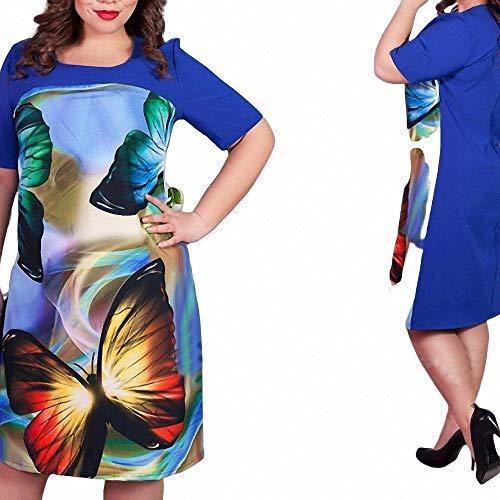 erkleid Mode Schmetterling Druck Kleider Casual Plus Size Damenbekleidung ()