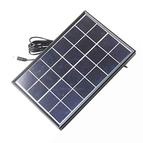 XZANTE 6 Watt 6 V Solar Zelle Polykristalline Solar Panel DIY Solar Strom Anlage FüR 3,7 V Akku Ladeger?t Led Licht DC 5521 Kabel 3 Meter