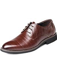 aea2e0f37e00d4 XDGG Männer echtes Leder spitzte Zehe Business Casual Schuhe Große Größe  Arbeit Hochzeit Schuhe