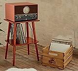 GPO Canterbury massiv poliert Holz Tisch und Vinyl Record Aufbewahrungs-Einheit