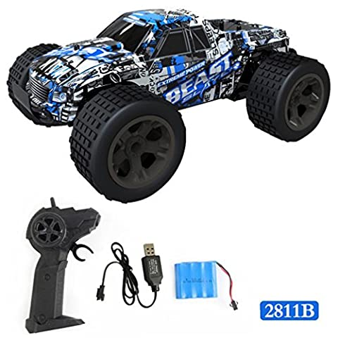 Remote Control Buggy,1:20 2WD High Speed RC Racing Car 4WD Remote Control Truck Off-Road Buggy Toys (D)