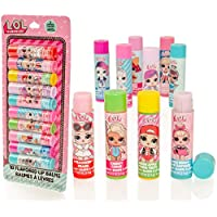 LOL Surprise 10 Pack Flavoured Lip Balm Sticks - Girls Lip Gloss Set