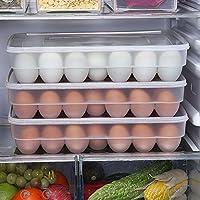 BeatlGem 34 Eggs Holder Storage Box Picnic Kitchen Refrigerator Fresh-keeping Container Transparent