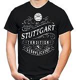 Mein leben Stuttgart T-Shirt | Freizeit | Hobby | Sport | Sprüche | Fussball | Stadt | Männer | Herren | Fan | M1 Front (XL)