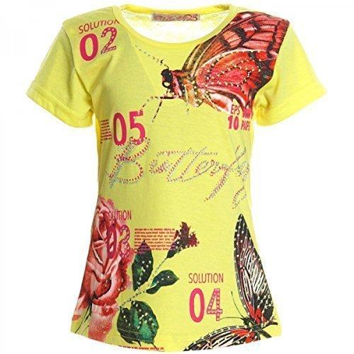 BEZLIT -  T-shirt - stile impero - Collo a U  - Maniche corte  - ragazza giallo 12 anni