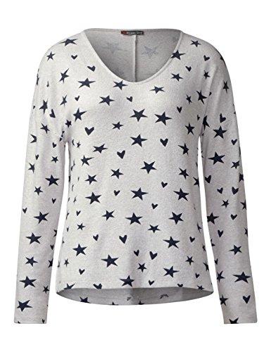Street One Damen Pullover Weiß (Shell White Melange 30569)