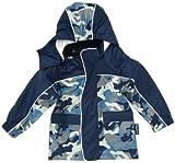 Playshoes Unisex - Baby Babybekleidung/ Regenbekleidung, Camouflage Regen-Mantel Camouflage 408552, Gr. 86, Blau (11 marine)