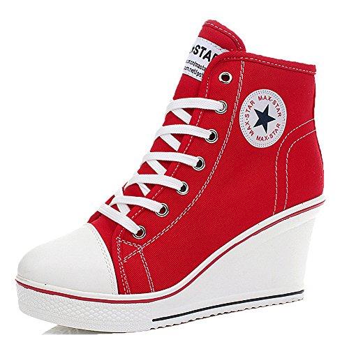 Padcod, Pantofole Alte Da Donna Rosse