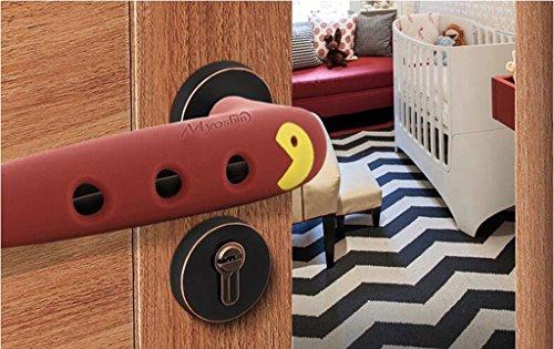 Poignée de porte en silicone pour bébés Protection anti - collision Chambre d 'accueil Poignée de porte Housse de protection anti - collision Ensembles anti - ( couleur : Marron )