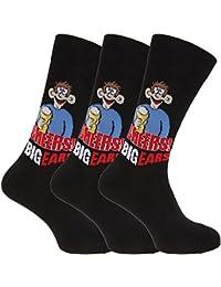 Herren Socken mit Comic-Aufschrift (3 Paar) (39-45 EU) (Design 6)