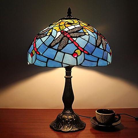 Lampe Tiffany - 12-pouces Vintage Pastoral magnifiques fleurs vitraux Tiffany