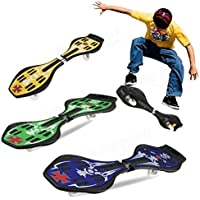 DOMENICO Fantasy Wave Plastic Board with Carry Bag and LED Flash (Assorted Colour)