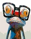 DIY Digital Leinwand-Ölgemälde Geschenk für Erwachsene Kinder Malen Nach Zahlen Kits Home Haus Dekor - Frosch 40*50 c