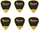 Ibanez PPA14MSGYE Lot de 6 médiators GRIP WIZARD à grip sable, 0.8mm, Jaune