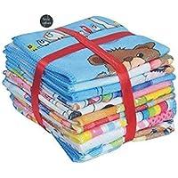 Style Urban Poly Cotton Face Towel (Set of 12, Multicolour)