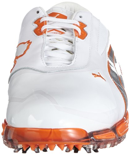 PUMA  AMP Cell Fusion Golf Shoes Mens  Wei    hite-vibrant orange 0001   7 UK