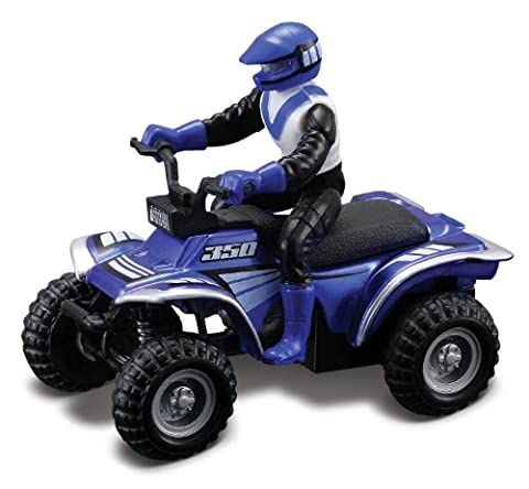 Maisto Racing #350 (Metallic Blue) * Off-Road Series Motorized ATV * 2010 Maisto ATV's Fresh Metal Pull-Back Motor Die-Cast Vehicle by ATV's