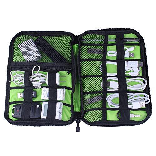 Shopper Joy Elektronik Organizer Aufbewahrungstasche für Kabel Festplatte Speicherkarte USB-Stick (Schwarz) (17 Shopper)