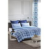 D'Decor Cotton Double Bedsheet with 2 Pillow Covers-King Size, Blue