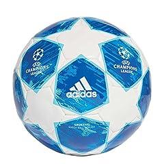 Idea Regalo - Adidas finale18Sport Calcio, Uomo, CW4132, White/Football Blue/Bright Cyan/Collegiate Royal, 4