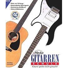 eMedia Gitarren-Schule Version 4, 1 CD-ROM Der einfachste Weg, um Gitarre spielen zu lernen! Für Windows 98/NT/2000/Me/XP/Vista bzw. Power PC, MacOS X 10.1+. Mehr als 70 Songs, Stimmgerät, Animiertes Griffbrett, Akkord-Bibliothek