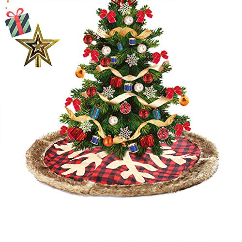 Odot Falda del árbol de Navidad, 90cm Suave Alfombra de Árbol ...