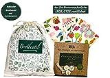 MEGA Trend 4er Set Bienenwachstücher für Lebensmittel - Bienen Wachspapier inkl. Brotbeutel aus Baumwolle - Wiederverwendbare Frischhaltefolie - Beeswax Wrap Blumen Muster