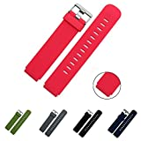 Lamshaw Quick Release Silikon Ersatz Uhrenbänder 18mm, 20mm, 22mm und Wahl von 5 Farben (Rot, 18mm)
