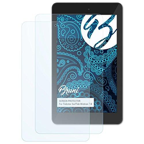 Bruni Schutzfolie für Trekstor SurfTab Wintron 7.0 Folie, glasklare Bildschirmschutzfolie (2X)