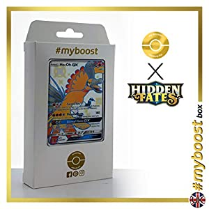 Ho-Oh-GX SV50/SV94 Variocolor - #myboost X Sun & Moon 11.5 Hidden Fates - Box de 10 cartas Pokémon Inglesas