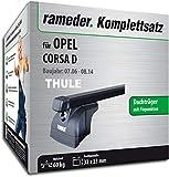 Rameder Komplettsatz, Dachträger SquareBar für OPEL Corsa D (116161-05598-1)