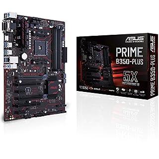 Asus Prime B350-PLUS Mainboard Sockel AM4 (ATX, AMD B350, Ryzen, 4x DDR4 Speicher, 6x SATA 6Gb/s)