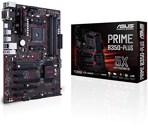 ASUS PRIME B350-PLUS Scheda Madre, AMD AM4 ATX, DDR4, 32 GB/s M.2, HDMI, USB 3.1