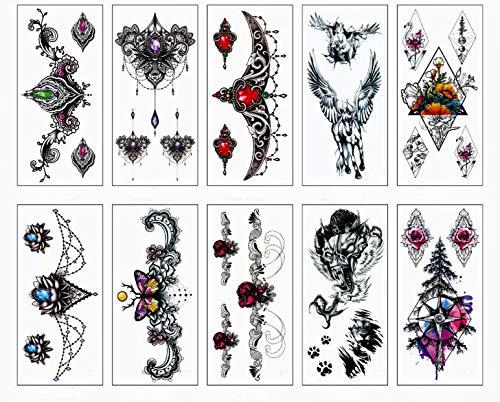 emporäre gefälschte Schmuck-Tattoos - Armbänder, Federn, Handgelenk- und Armbänder ()