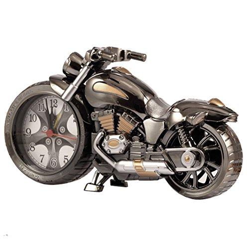 Motorrad Style Studenten Alarm Clock Tisch Schreibtisch Time Clock Cool Motorrad Modell Motorradmodell kreative Handwerk Geschenk (vier Designs, zufällige Lieferung) – Gearmax