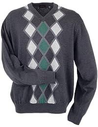 Greg Norman Collection Men's Modern Links Argyle Sweater