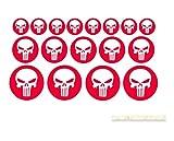 Punisher Aufkleber skull Motorrad shopper Sticker wohnwagen Aufkleber Boot