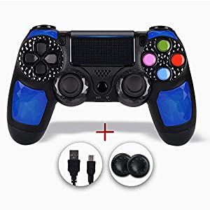 PS4 Controller, Controller Für PS4, Controller PS4, PS4 Controller, Wireless Doubleshock Controller Kompatibel Mit Playstation 4/Slim/Pro (Diamant Blau)