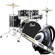 Pearl Road Show rs505C C31Black Impacto Set de batería + baquetas Keepdrum & Auriculares