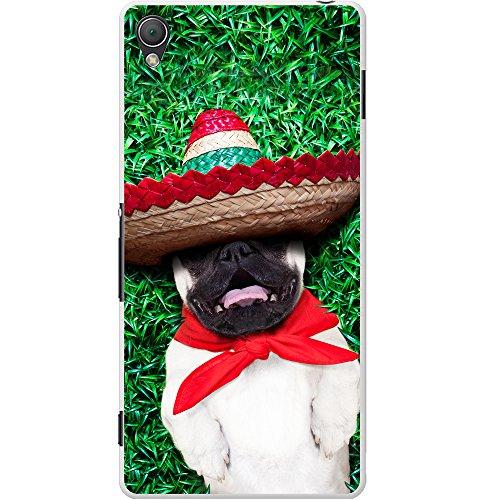 nisch Sombrero-Hut Mops Hartschalenhülle Telefonhülle zum Aufstecken für Sony Xperia Z3 Plus ()