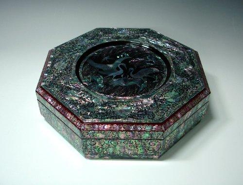 Plat Traditionnel Coréen Artisanal Boîte Bento Compartiment Tuperware Nacre Luxe