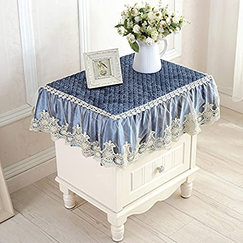 Tête de lit de style euro-cache-poussière couverture de neige épaisse serviette couvercle polyvalent réfrigérateur lave-linge couvrir ,a,60*60cm towel