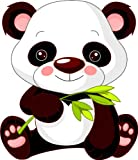Michael & Rene Pflüger Barmstedt 8 x 7 cm - Kontur geschnitten - Autoaufkleber Panda Pandabär Aufkleber Sticker fürs Auto Motorrad Kinder Handy Laptop