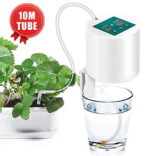 MEETGG Automatisch Bewässerungsset, Selbst Bewässerung System, Automatisch Tropfbewässerungssystem, mit elektronischer Wasseruhr, 10m Tube, zum Gardens, Balkone, Topfpflanzen
