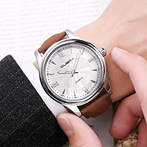 DIKHBJWQ Quarz Uhr Luxusuhren Intelligente Armbanduhr Fitness Tracker Uhren Edelstahl Dial automatik Armbanduhren Casual Armband Uhr wecker kinderfür Herren