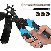 E·Durable Sacabocados Agujero Cinturon Perforadora de 6 Tamaños 2-4.5 mm tenaza Perforadora