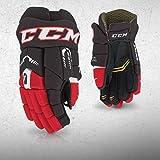 CCM Tacks 4052 Handschuhe Senior, Größe:15 Zoll, Farbe:Schwarz/Sunflower