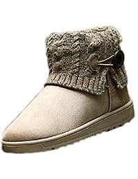 99b245b1f8e0f Lalang Femme Bottes de Neige Hiver Chaudes Bottes Boots Fourrées Cheville  Chaussures