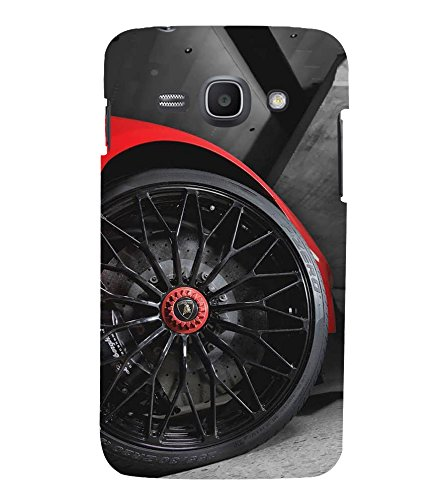 Fuson Designer Back Case Cover for Samsung Galaxy Ace 3 :: Samsung Galaxy Ace 3 S7272 Duos :: Samsung Galaxy Ace 3 3G S7270 :: Samsung Galaxy Ace 3 Lte S7275 (Car Red Car Car Tyres Wheels Black)  available at amazon for Rs.447