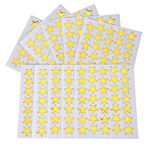 Pegatinas Estrella Doradas 1750 Piezas Estrellas Adhesivas